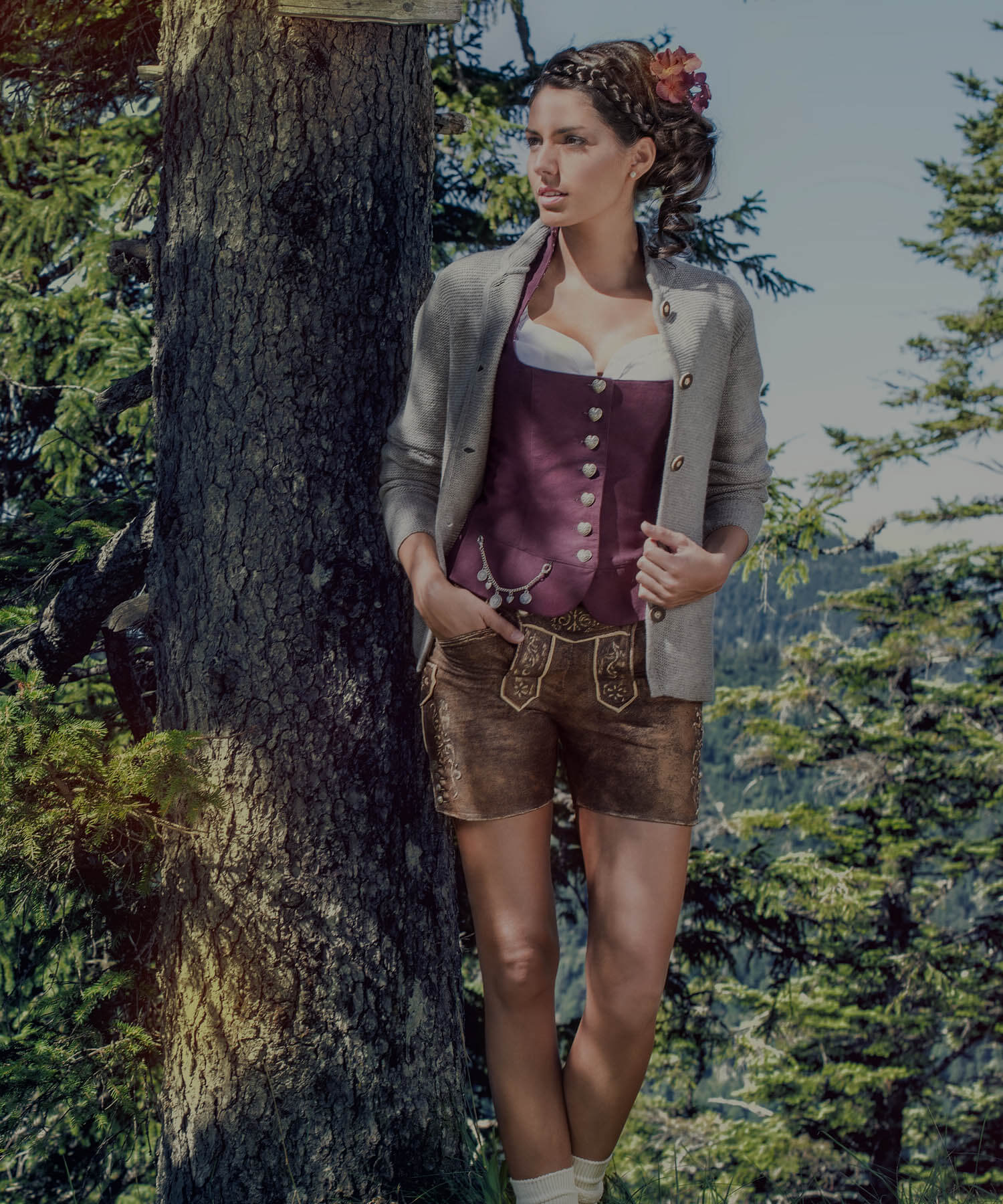 Bavarian knit cardigans and vests ladies