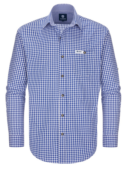 Bavarian shirt Alois (dark blue-checkered)