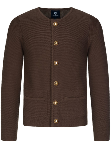 Bavarian cardigan Alfonsius dark brown