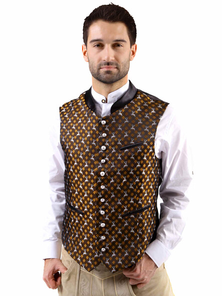 Bavarian vest Titus exclusive (brown)