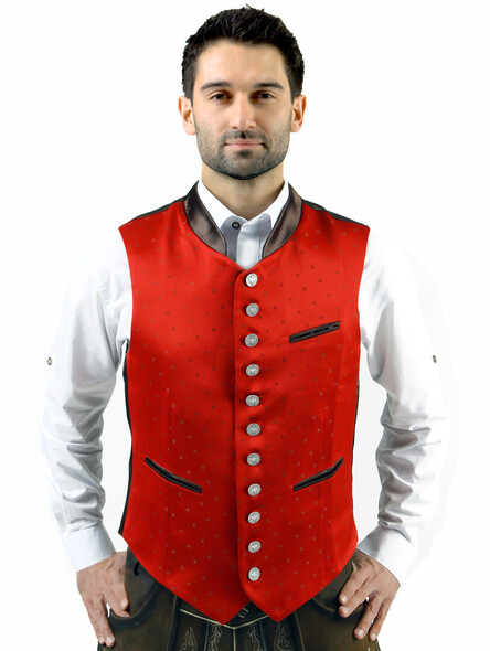 Bavarian vest Lorenz exclusive (red)