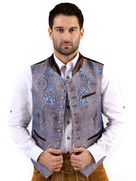 Bavarian vest Quirin exclusive (blue)