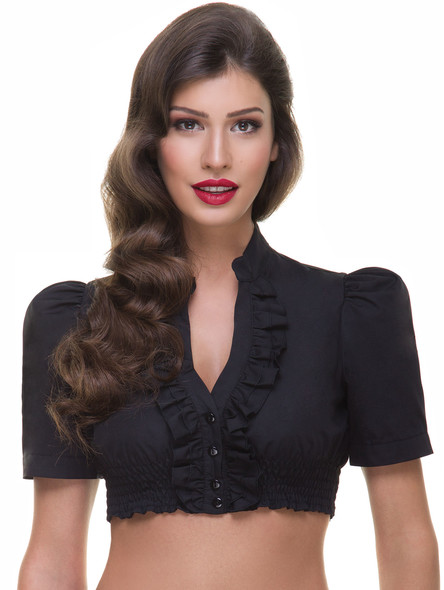 Exclusive dirndl blouse B110 (black)