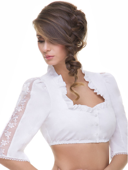 Exclusive dirndl blouse B13215 (white)