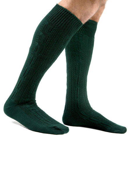 Bavarian socks long (green)