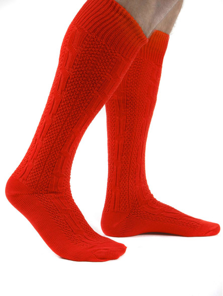 Bavarian socks long (red)