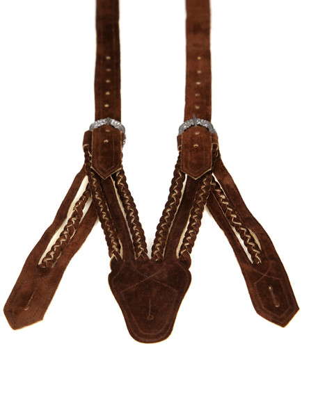 Bavarian suspenders dark brown (Norwegian style)