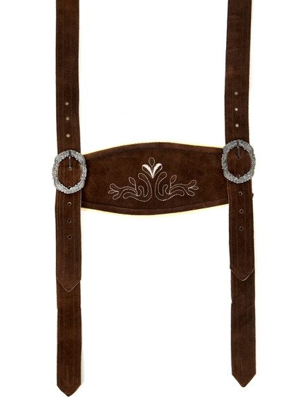 Bavarian suspenders dark brown classic