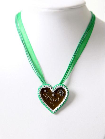 Bavarian necklace Spatzl green (K31)