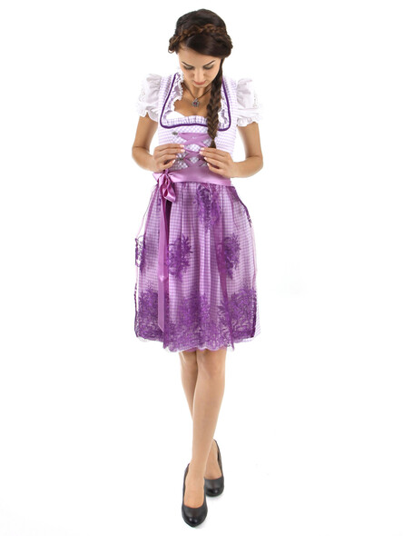 Almbock Mini Dirndl Camille lila (exclusive)