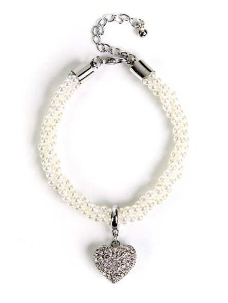Bavarian bracelet with heart pendant (B3)