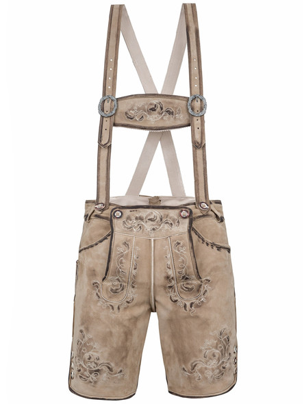 Bavarian short lederhosen Zillertal goatskin old-antique...