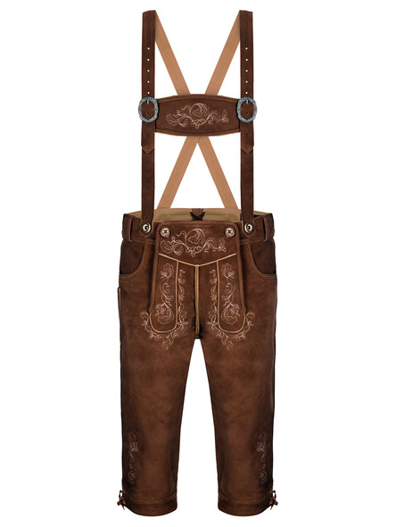 Bavarian lederhosen Garmisch goatskin (medium brown)