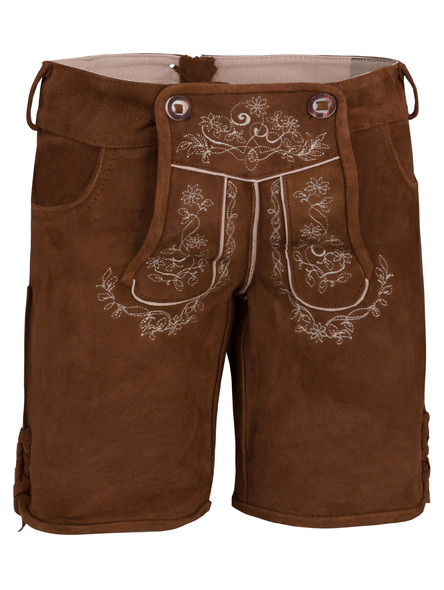 Bavarian ladies lederhosen goat suede Loreen (medium brown)
