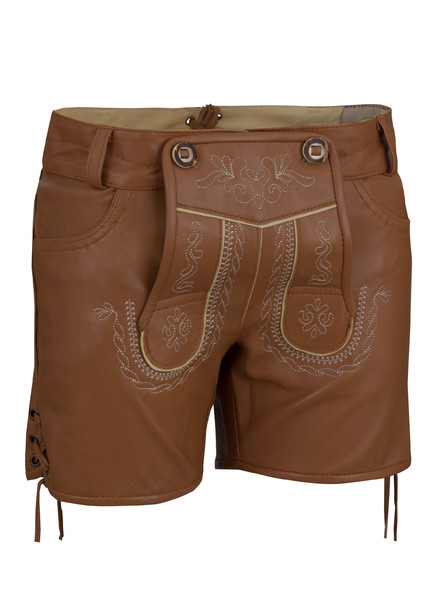 Bavarian ladies lederhosen Catalina extra short (medium...