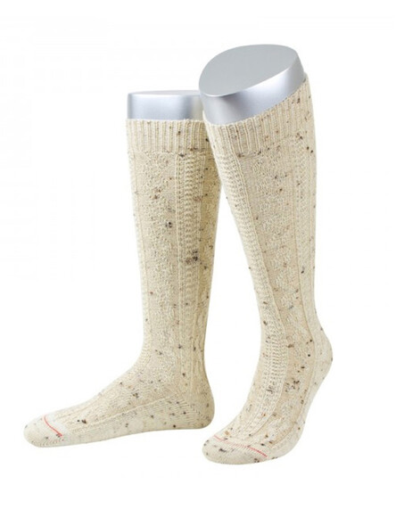 Bavarian socks long merino wool (natural flecked)