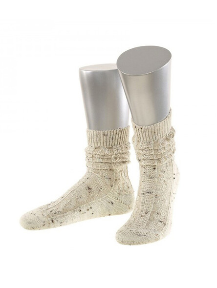 Bavarian socks short merino wool (natural flecked)