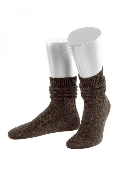 Bavarian socks short merino wool (brown)