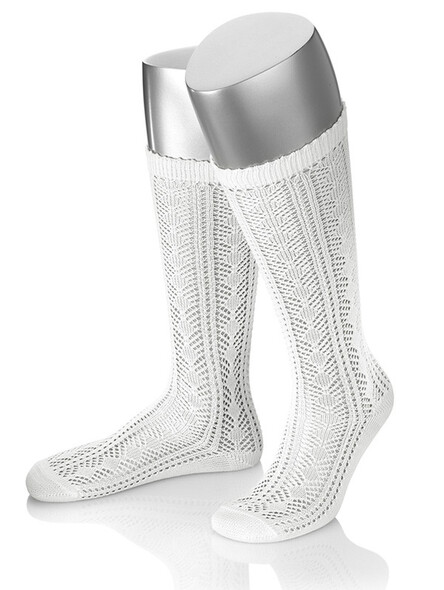 Bavarian knee stockings Ina (white)
