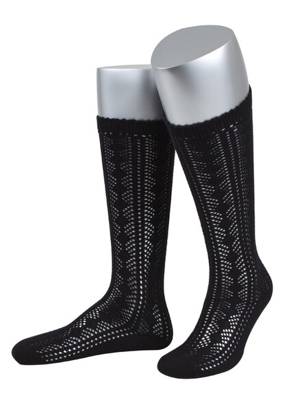 Bavarian knee stockings Ina (black)
