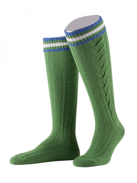 Bavarian socks long Cornelius handmade (green)