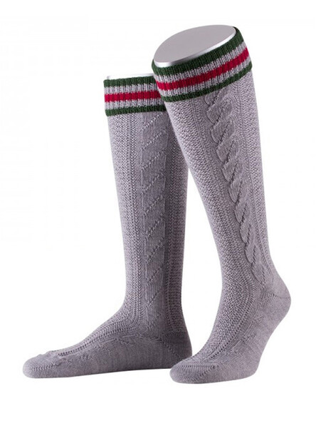Bavarian socks long Cornelius handmade (gray)