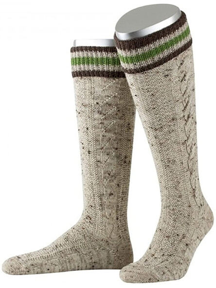 Bavarian stockings long Bert handmade (brown)