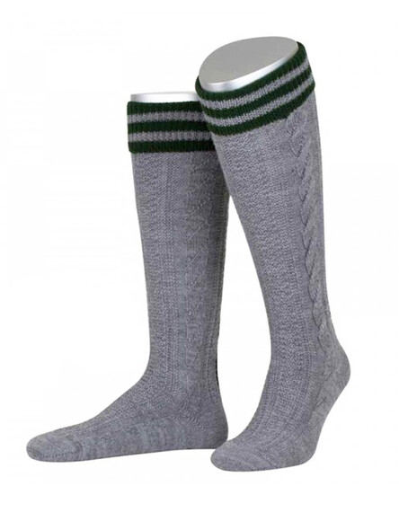 Bavarian socks Albert handmade (medium gray)