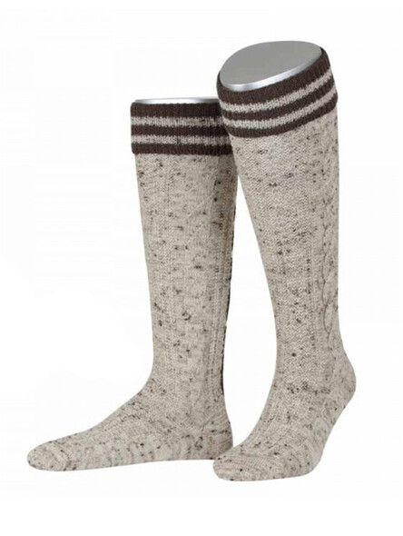 Bavarian socks Kurt handmade stitched (brown flecked)