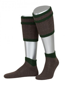 Bavarian-calf-socks-Kaprun-2-piece-brown-44-45