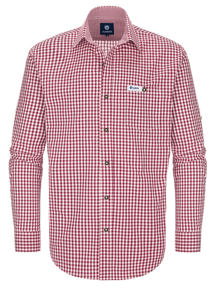 Red-checkered bavarian shirt Sepp