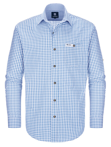 Bavarian shirt Max (sky blue-check)