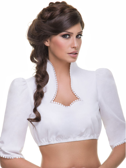 Dirndl blouse Monic B227 (white)