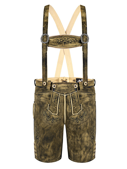 Bavarian Lederhosen Jonny goat old brown used