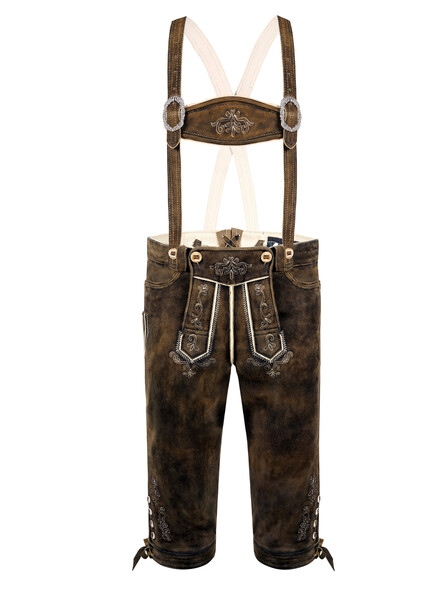 Bavarian Lederhosen Fritz goat (dark brown used)