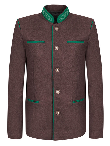 Bavarian jacket Almbock (chestnut brown)