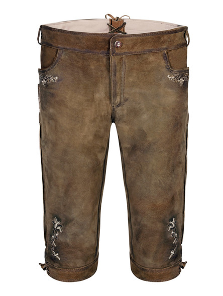 Bavarian lederhosen Bismarck goat (antique brown)