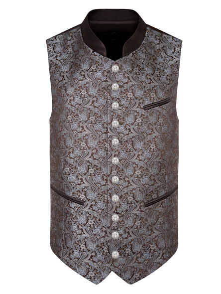 Bavarian vest Fred brown-blue (exclusive)