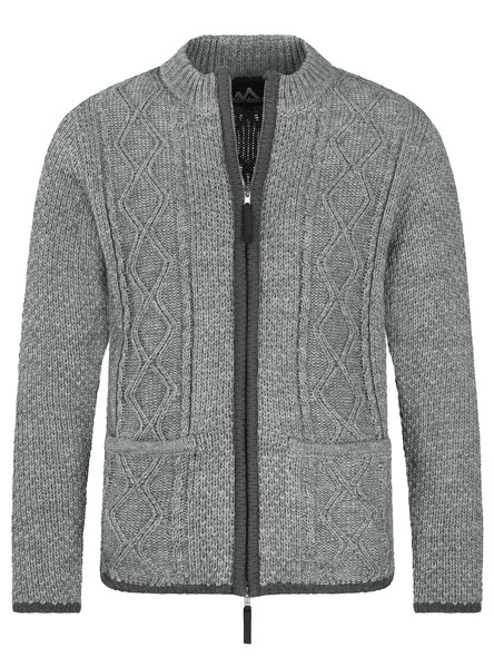 Almbock Trachten Strickjacke Chris (grau)