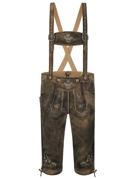 Bavarian lederhosen Franko old-antique goat (brown)
