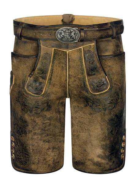 Bavarian Lederhosen short Villach goat suede brown used