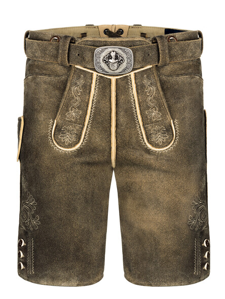 Bavarian lederhosen deer Linz (granite brown)