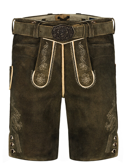 Bavarian lederhosen deer Graz (brown antique)