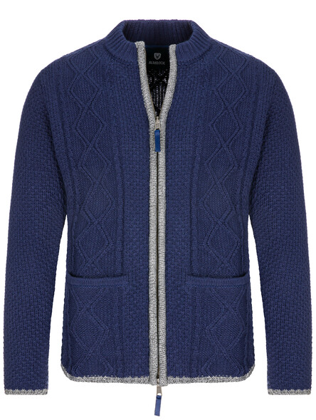 Almbock bavarian cardigan Chris (navy blue)