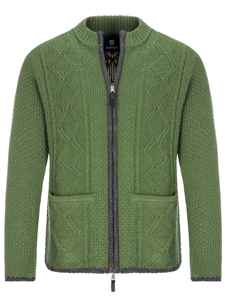 Almbock bavarian cardigan Chris (forest green)