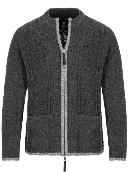 Almbock bavarian cardigan Chris (anthracite gray)