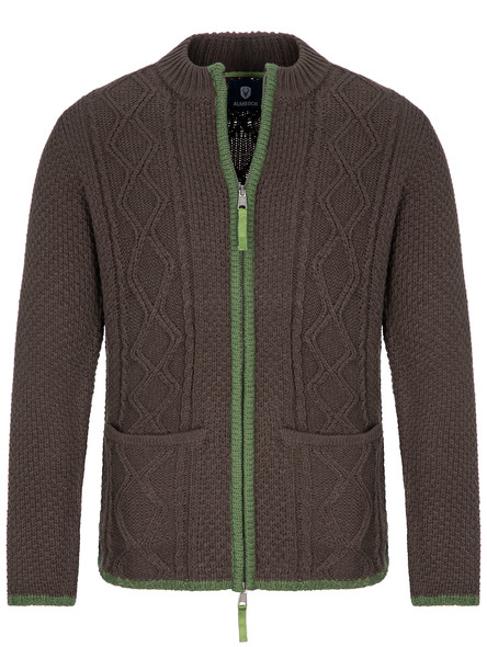 Almbock bavarian cardigan Chris (dark brown)