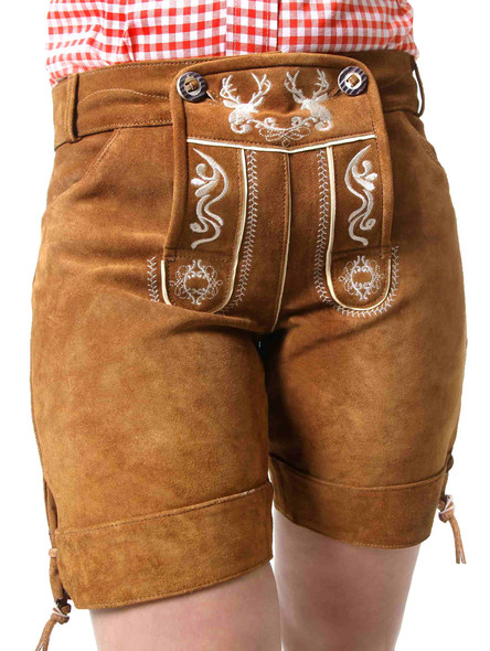 Bavarian lederhosen ladies Betty (brown)