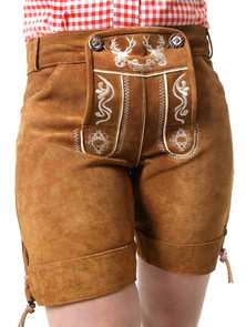 Almbock Lederhose Damen Betty braun