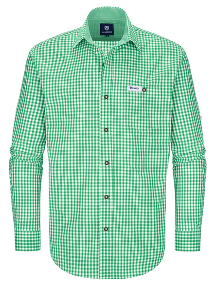 Bavarian shirt Vitus medium green